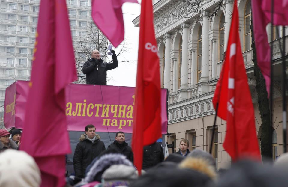 Виступ голови Соціалістичної партії Сергія Капліна