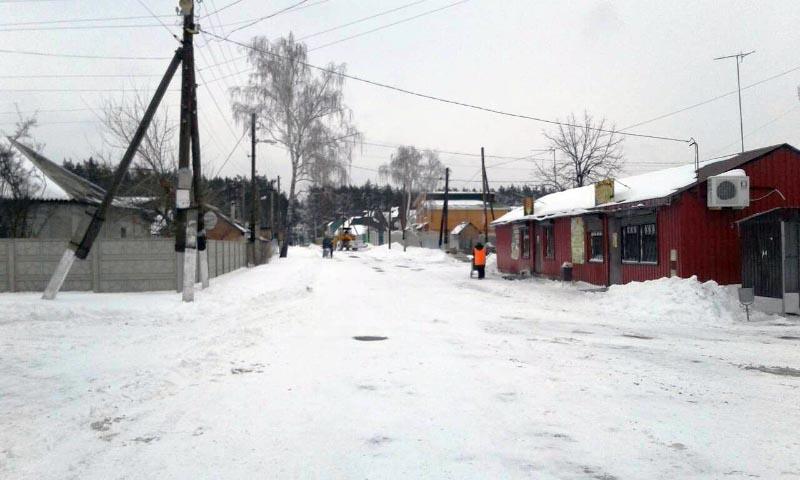 Прибирання снігу на території Терешківської сільської ради