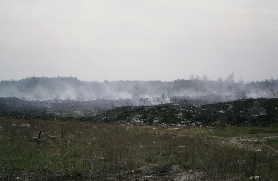 Пожежа на полігоні твердих побутових відходів у Зачепилівці