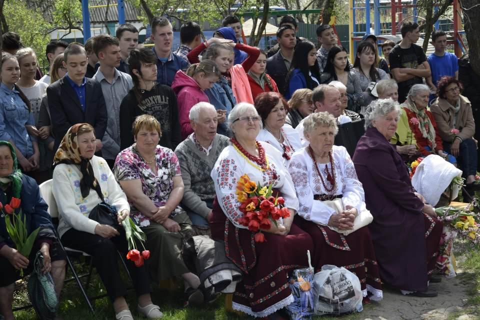 Глядачі концерту серед яких — ліквідатори та їх рідні, а також місцеві мешканці