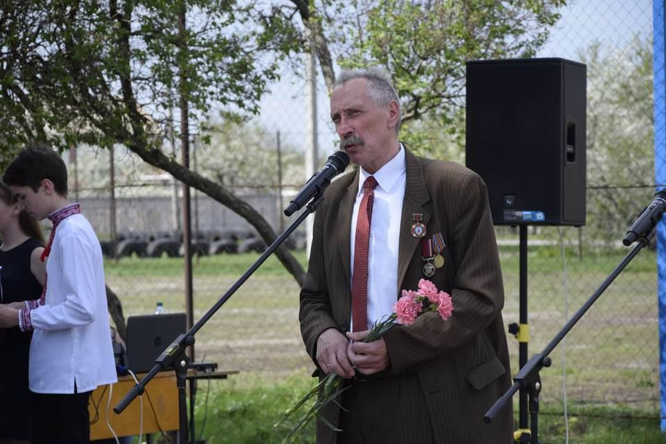 Голова Щербанівської ОТГ Ігор Процик виступив з промовою