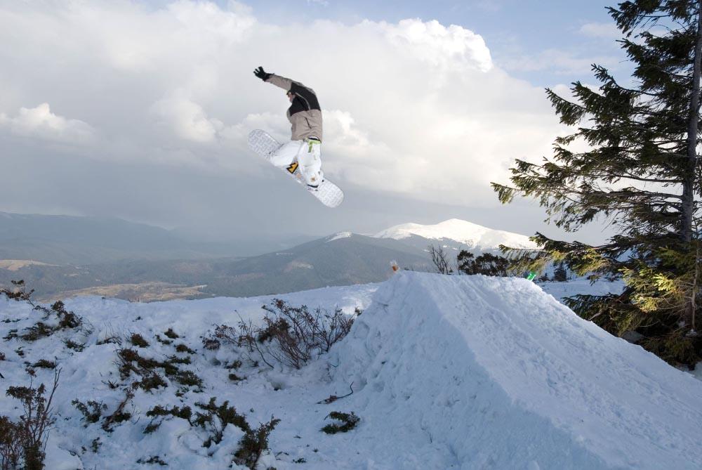Дмитро Нальотов займається сноубордингом
