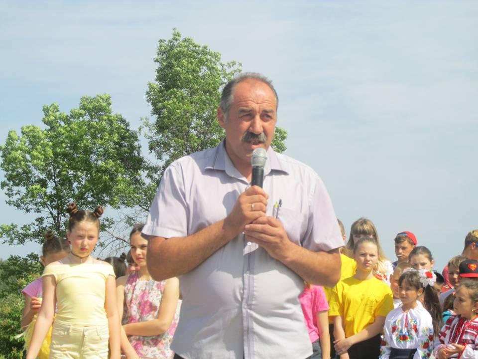 З вітальною промовою виступив голова Мачухівської ОТГ Валерій Білокінь