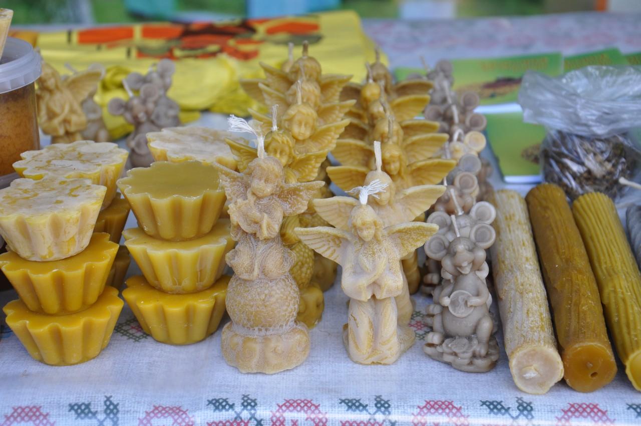 Медовари із Карлівського району приїхала в Полтаву із восковими скільптурами