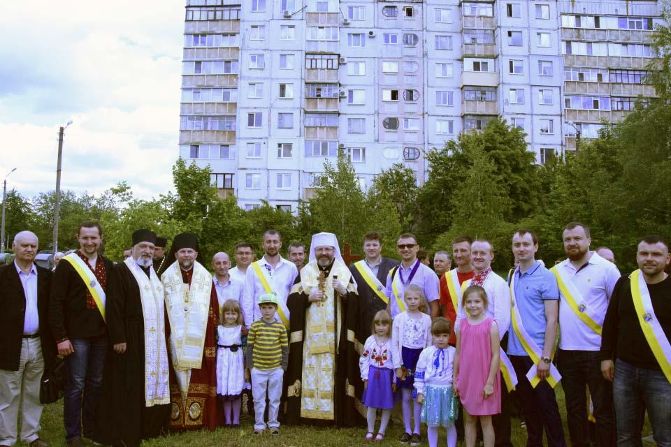 Молодь дружньої парафії Пресвятої Трійці з Блаженнійшим Святославом