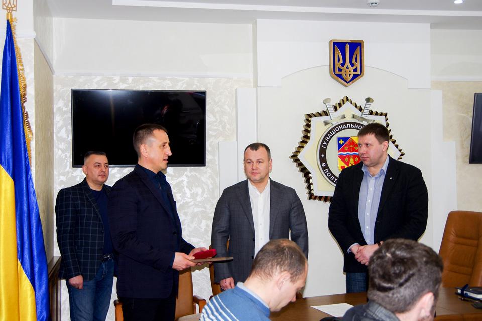Знак Пошани УМВС України в Полтавській області за допомогу бійцям батальйону поліції особливого призначення «Полтава»