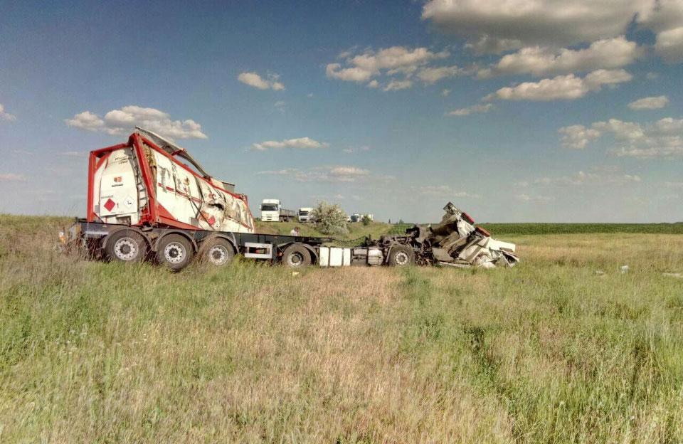 ДТП з вантажівкою, що перевозила бензол