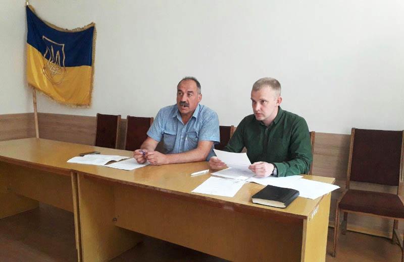 Валерій Білокінь та провідний спеціаліст відділу зовнішніх зв'язків компанії ДТЕК Остап Ходак