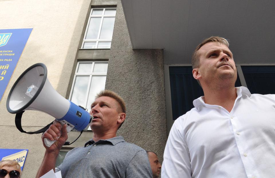 Ініціатори процесу «антивідкликання» Валерій Пархоменко та Денис Поліщук