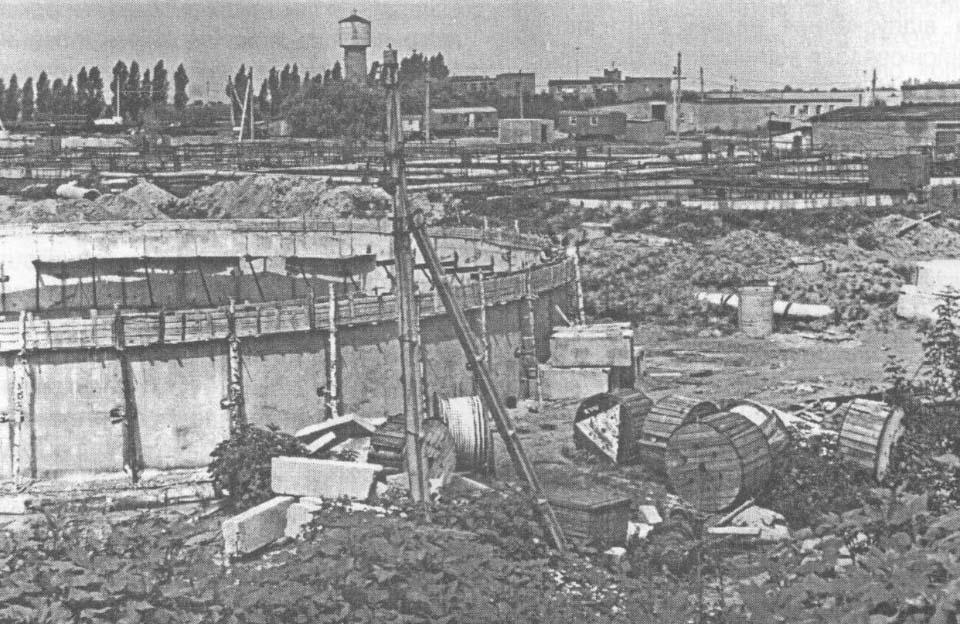 Спорудження другої черги Супрунівських очисних споруд каналізації (70-і роки)