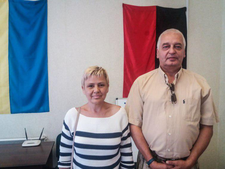 Волдімарас Ажубаліс та його дружина Ольга Олексієнко