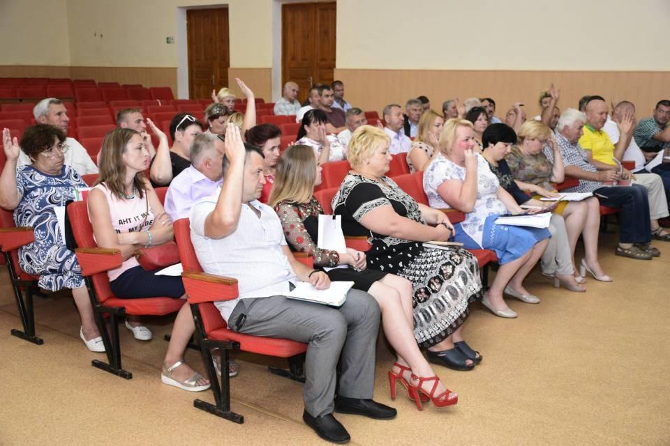 Голосування депутатів Щербанівської ОТГ