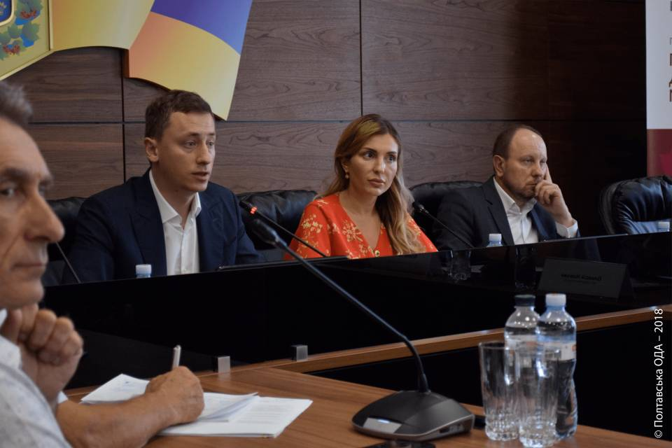 Олексій Соболєв, Інна Іщенко, Ігор Лепьошкін (зліва направо)