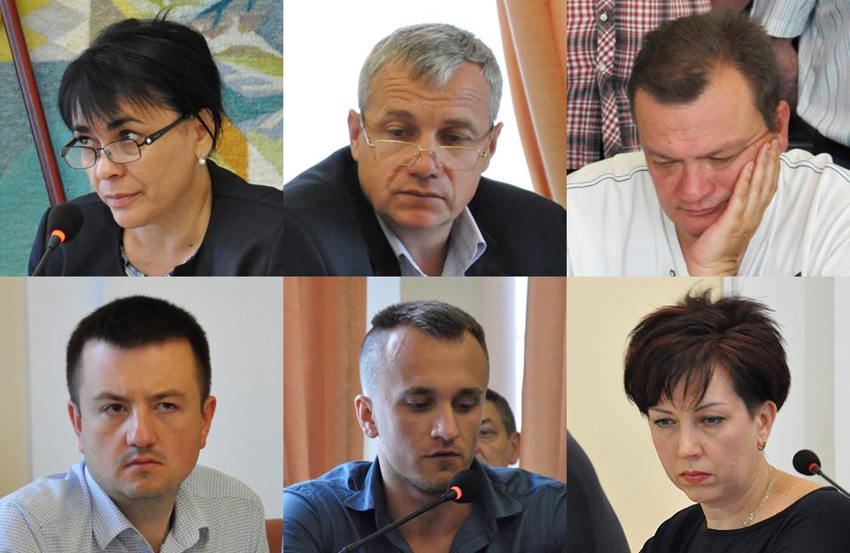 Депутати Полтавської міськради Деркач, Корнійчук, Гаєвий, Діденко, Мартинюк та Бондарєва
