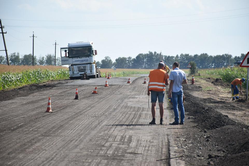 Ремонт дороги Шили - Надержинщина - Полтава