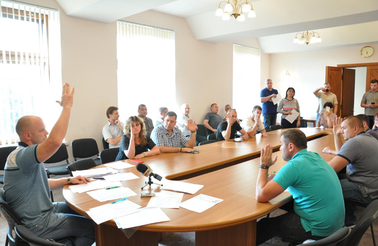 Голосування членів Полтавської міської виборчої комісії