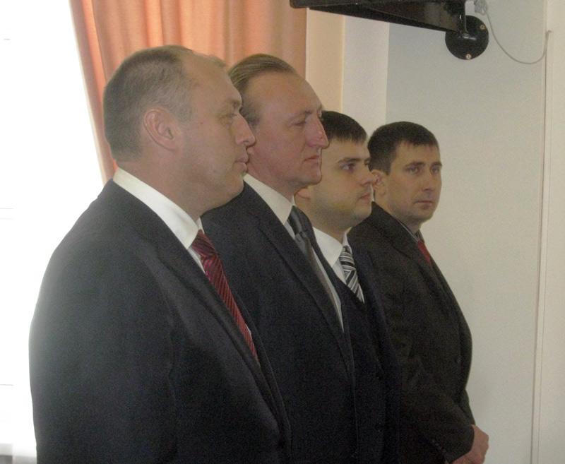 Олександр Мамай, Олександр Залужний, Володимир Макар та Дмитро Трихна (лютий 2012 року)
