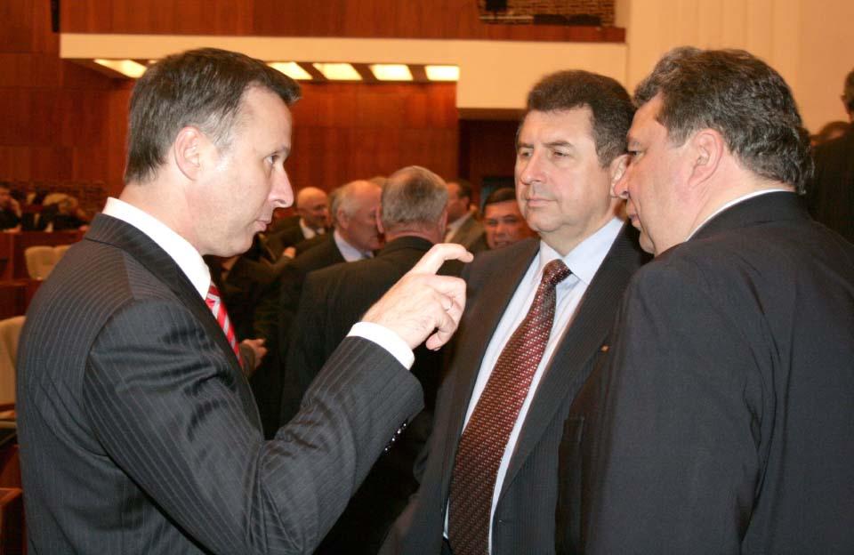 Андрій Матковський, Олександр Удовіченко та Олександр Козуб (квітень 2010 року)