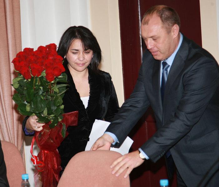 Оксана Деркач та Олександр Мамай (листопад 2010 року)