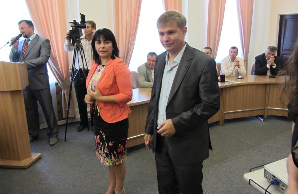 Оксана Деркач та Євген Дикань (вересень 2014 року)