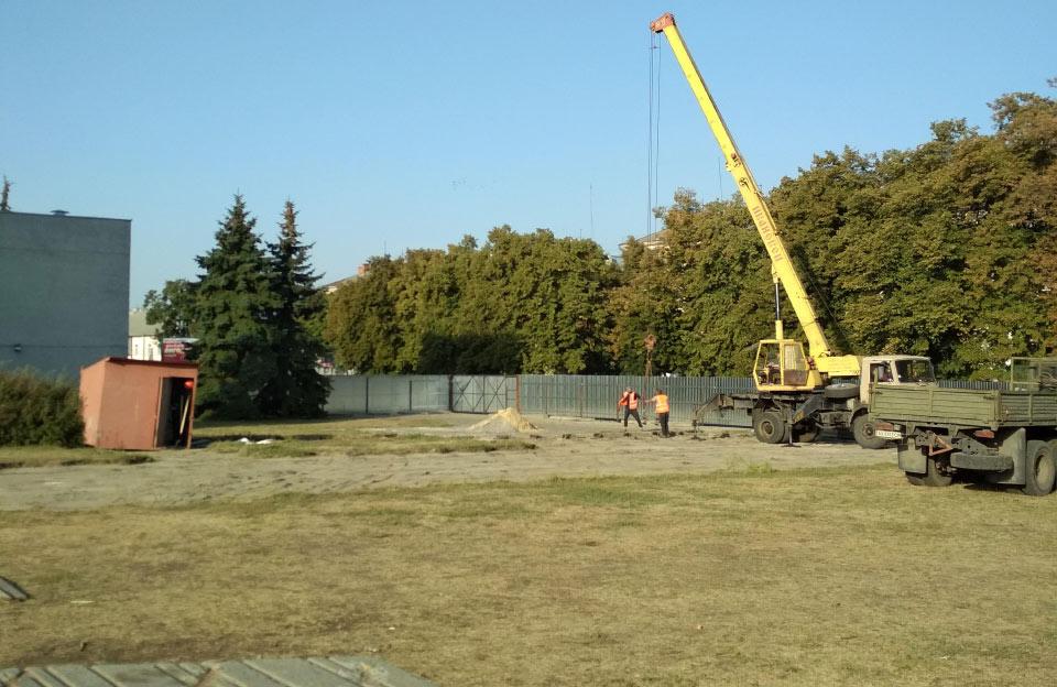 Будівельний майданчик станом на початок вересня