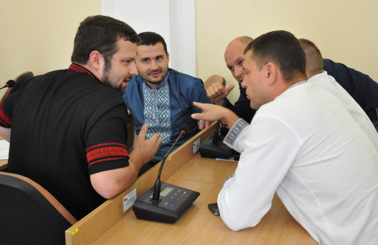 Депутаты фракции ВО «Свобода» в Полтавском городском совете