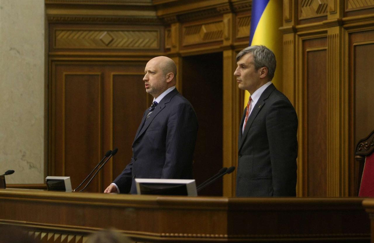 Александр Турчинов и Руслан Кошулинский | Фото: rada.gov.ua, март 2014 года