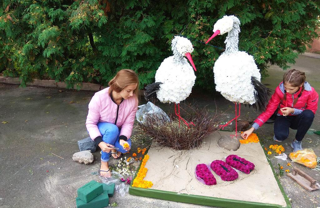 Юні флористи Полтавщини посіли ІІІ місце у номінації «Флористична скульптура»