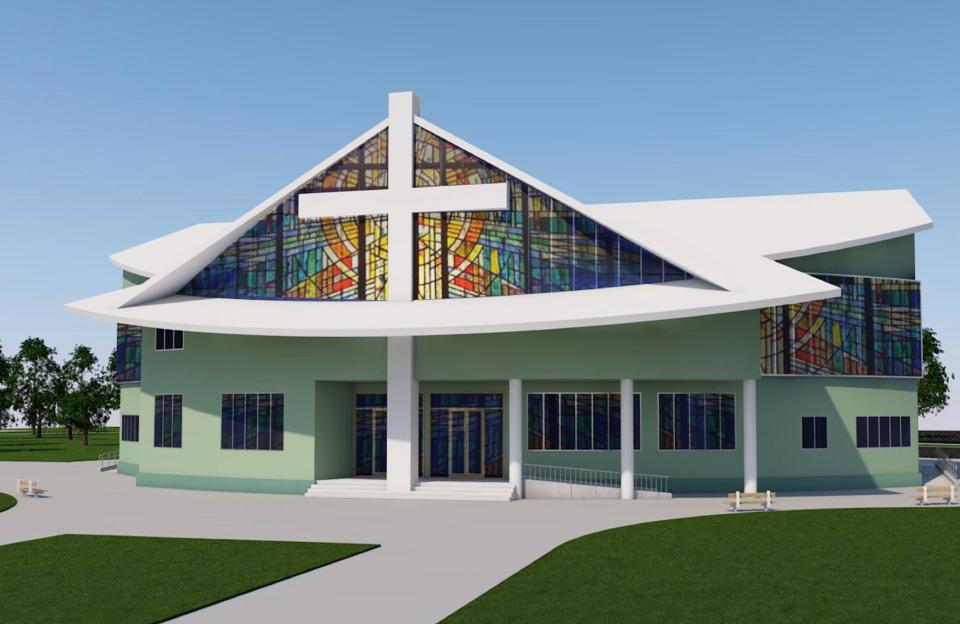 Ескіз Храму Сучасної Християнської Церкви на вул. Пушкарівській