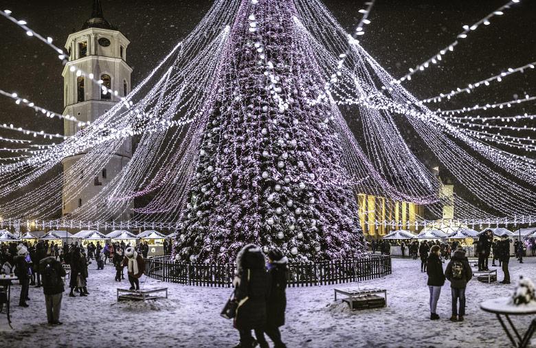 Новорічна ялинка в Вільнюсі