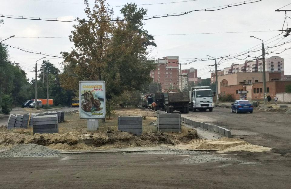 Капітальний ремонт вулиці Чураївни у червні 2018 року