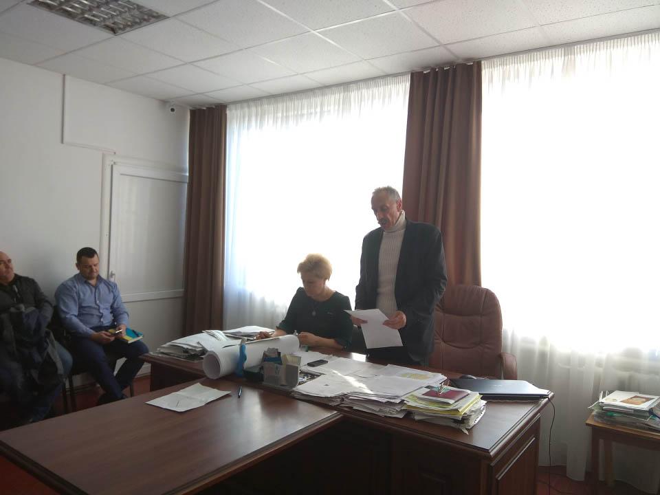 Робочі моменти 10-ої позачергової сесії Щербанівської сільської ради