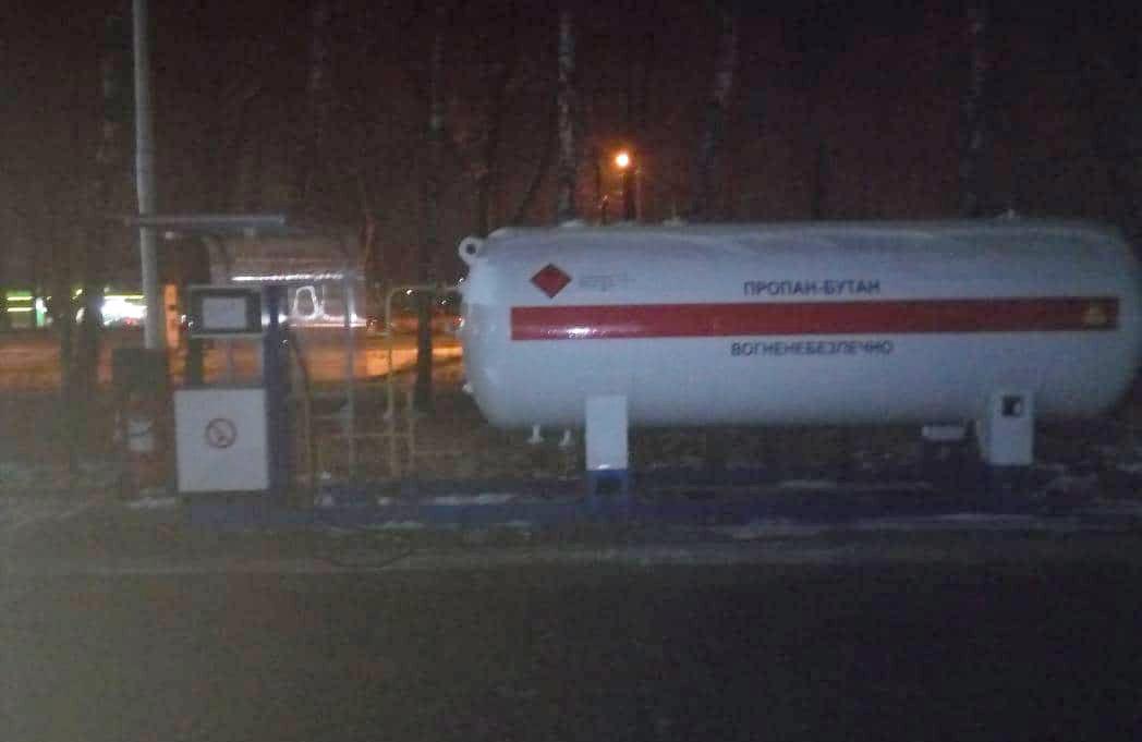 Газова заправка на вул. Київське шосе, 56-а