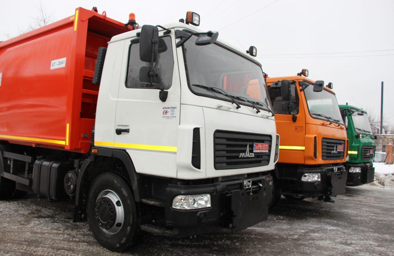 Асенізаційна машина за 2,5 млн грн та 2 сміттєвози з заднім навантаженням вартістю 4,1 млн грн кожен