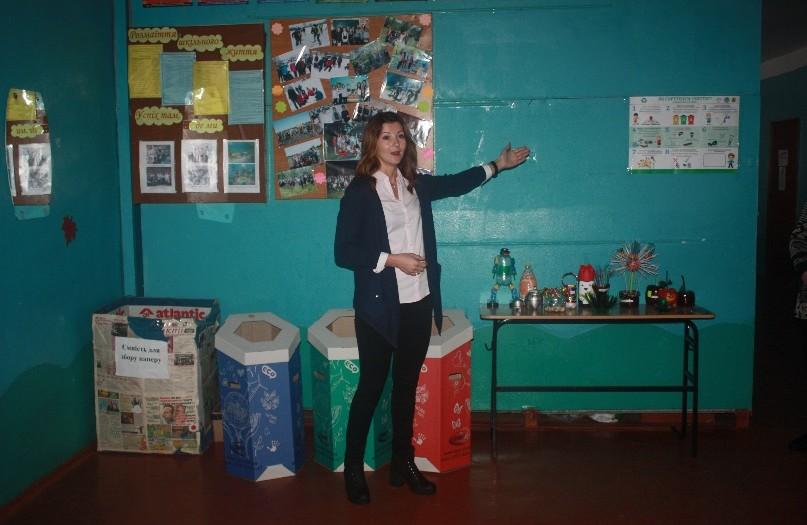 Координатор проекту «Впровадження роздільного збору сміття в навчальних закладах Полтавської області