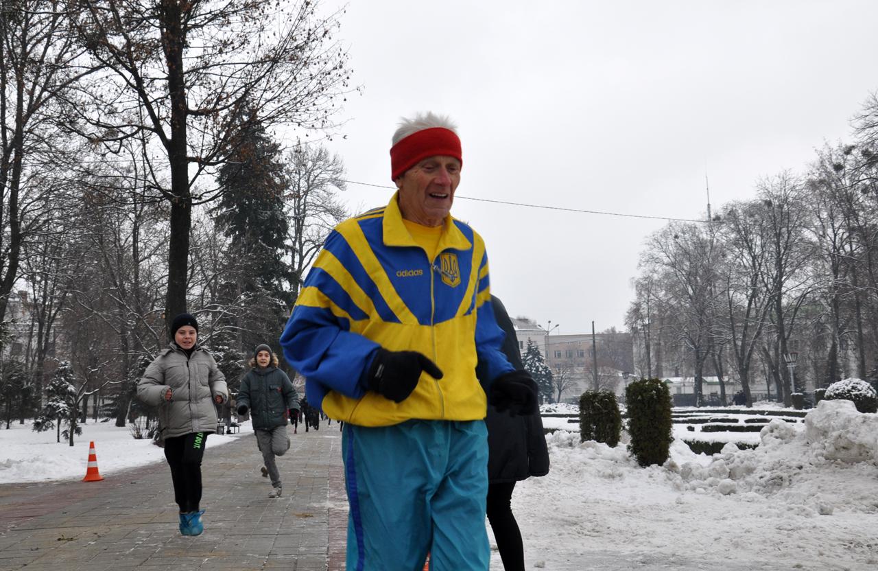 Відомий полтавський любитель бігу Віталій Сердюк.