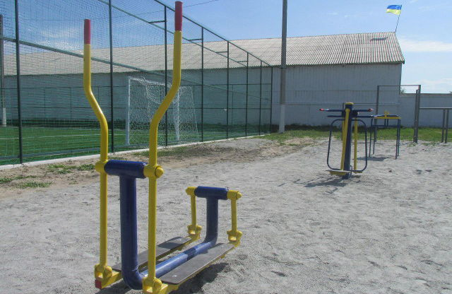Тренажерний майданчик відкрили разом із футбольним полем