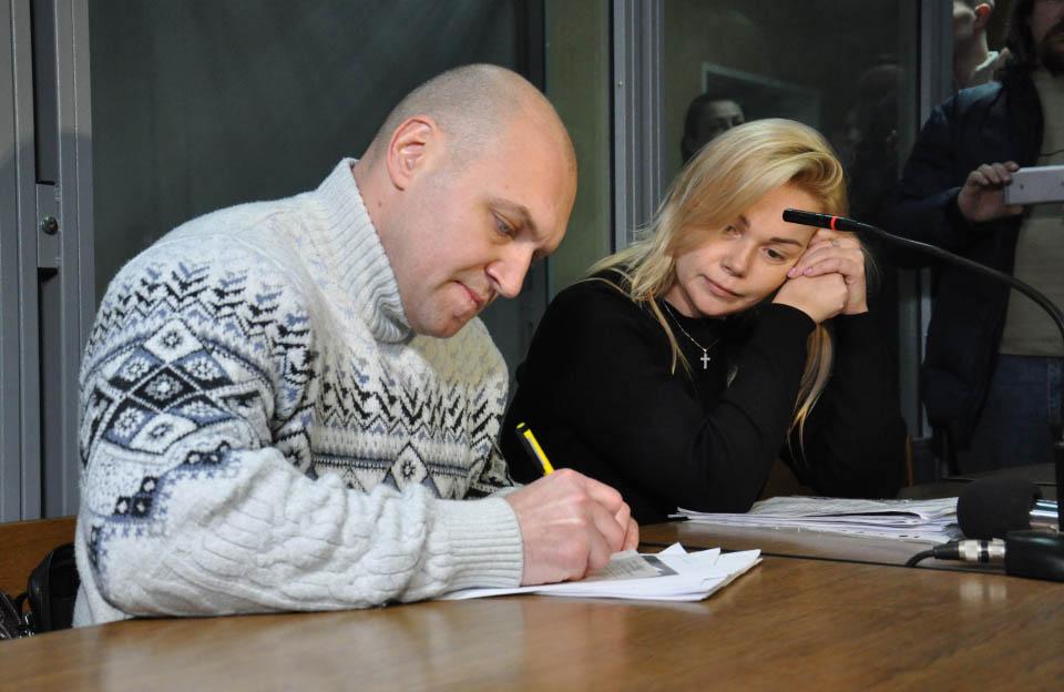 Наталія Саєнко та її адвокат Олег Губа