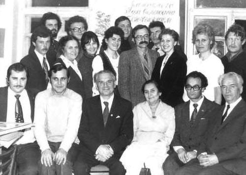 Лев Вайнгорт у день свого 70-річчя серед колег та друзів