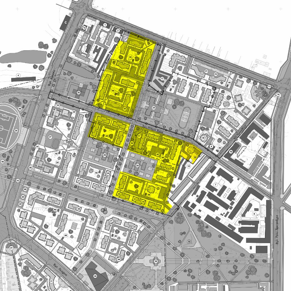 Ділянки території колишніх артскладів, які заплановано віддати в оренду, у порівнянні з детальним планом території, який затвердили у 2016 році