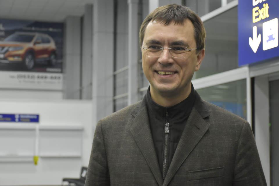 Володимир Омелян у Полтавському летовищі