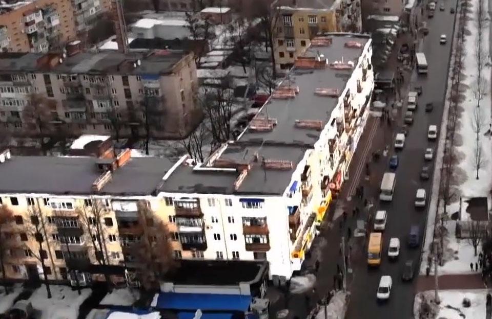 «Бурульконебезпечна» п'ятиповерхівка на вул. Соборності, 78