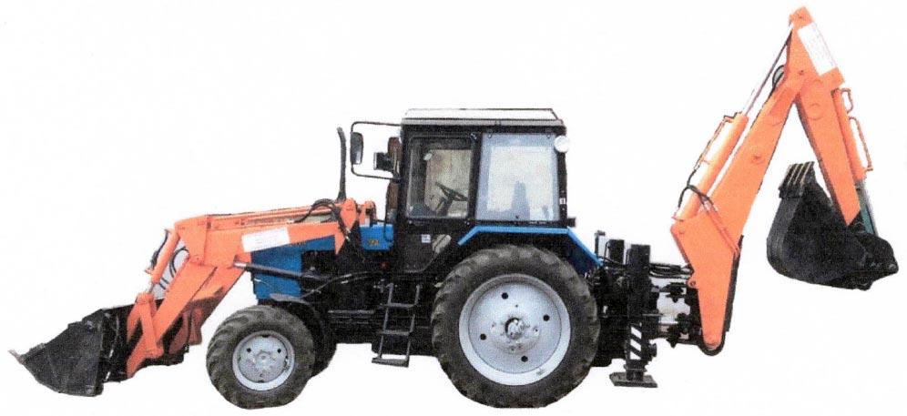 Екскаватор БАМ-2014Ц на базі трактора МТЗ-82.1