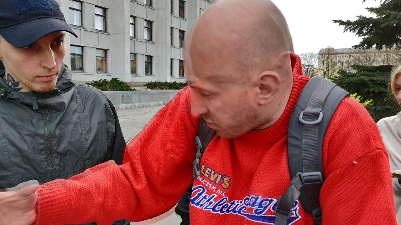 Андрій Коваленко з Києва назвався представником ГО «Молодь України»