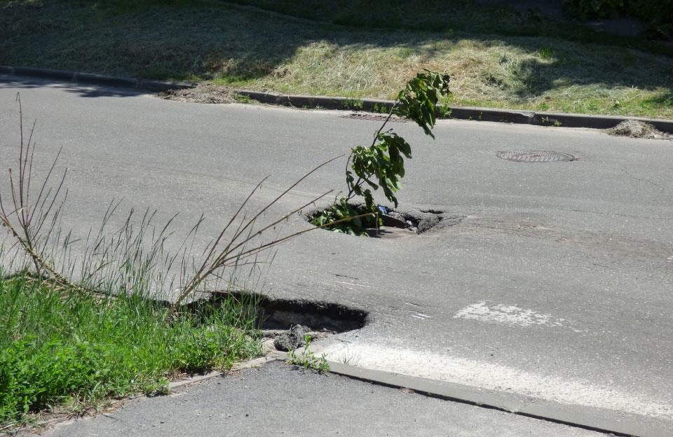 Зливова каналізація на перехресті вулиць Стрітенської та Нижньомлинської