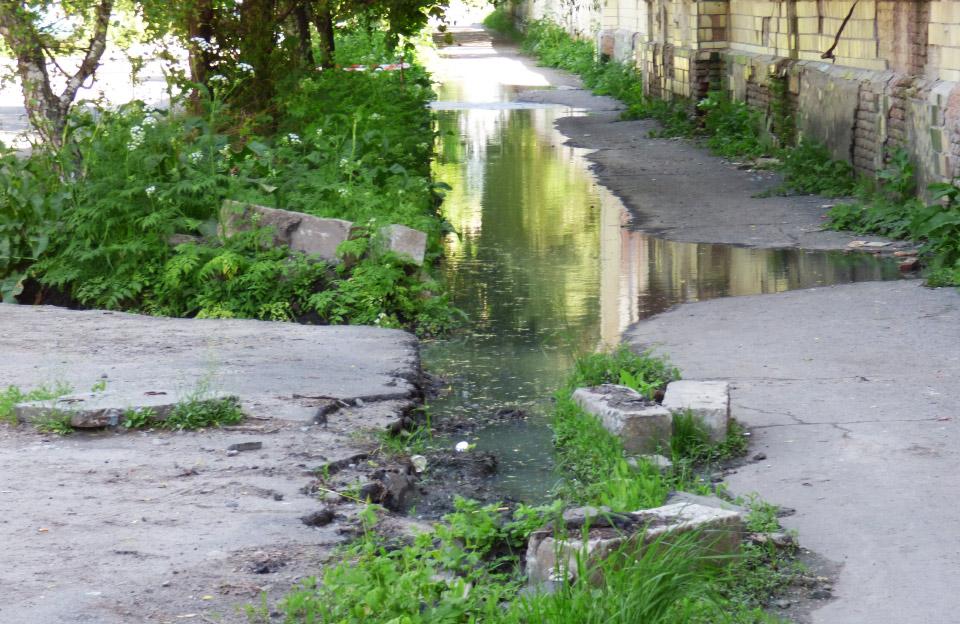 Потік фекалій на вул. Пушкарівській