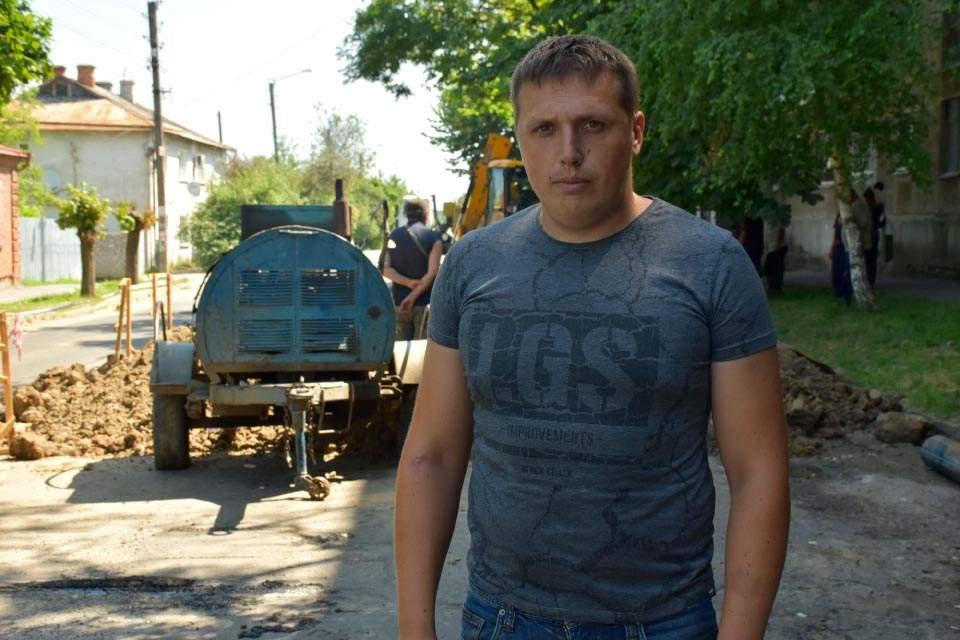 Старший майстер з ремонту водопровідних мереж «Полтававодоканалу» Дмитро Буцький