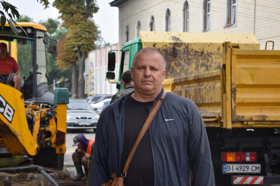 Майстер мережі водопроводів КП «Полтававодоканалу» Руслан Лукашенко