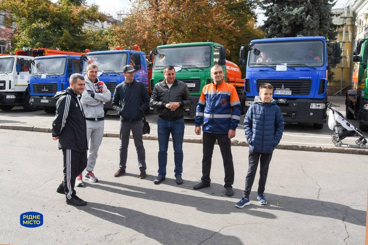 Члени команди «Рідне місто» Олексій Чепурко, Антон Тонконог, Тарас Бойко та Роман Кикоть