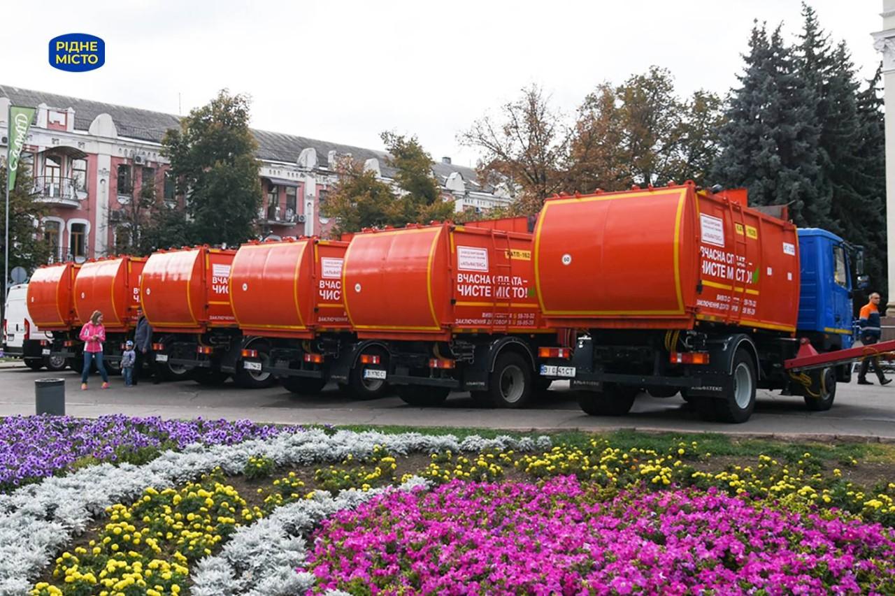 Швидкість вивозу сміття в Полтаві значно покращилася завдяки новим сміттєвозам